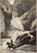 EAU FORTE / Fables de la Fontaine 1883 / LE TORRENT ET LA RIVIERE