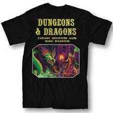 DUNGEONS & DRAGONS BASIC RULE BOOK BLACK T-SHIRT LARGE NEW #soct17-407