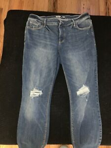 Womens Old Navy Rockstar Super Skinny Stretch High Rise Distressed Jeans 16 Plus