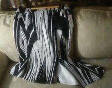 Bisou Bisou Michele Bohbot Skirt 12 Black White NWT Zipper Polyester Spandex