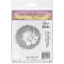 Apple Wreath Cling Stamp Collection Our Daily Bread NEW fall autumn harvest door