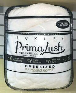 PRIMALUSH by Berkshire Luxury Blanket Oversized Full/Queen in Marshmallow White