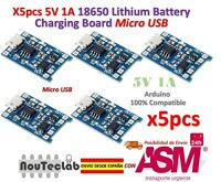 5pcs 5V 1A Micro USB 18650 Lithium Battery Charging Board Charger Module