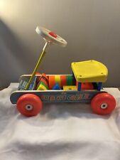 Vtg 1964 Fischer Price  Ride On Creative Coaster W/ Blocks