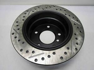 StopTech 127.34047L Sport Drilled/Slotted Brake Rotor (Rear Left), 1 Pack, G NEW
