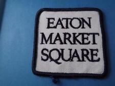 EATON MARKET SQUARE PATCH EMPLOYEE UNIFORM EATONS DEPARTMENT STORES CLOSED RARE