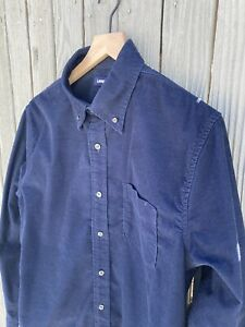 Lands End Mens Button Up Casual Shirt Size M 38-40 Traditional Fit Long Sleeve