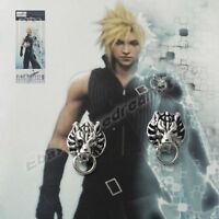 Pair of Final Fantasy VII 7 Cloud Cloudy Wolf Metal Earrings Clip For Gift NIB