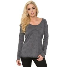 Metal Mulisha Ladies Disintegrate Long Sleeve Top Size S