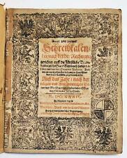 RARE 1634 Astrology Calendar Germany Schreibkalender Prognostica Almanac