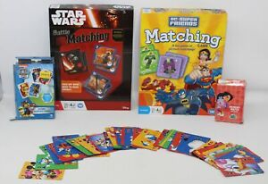 Lot of Games Star Wars Battle Matching Game DC Super Friends Matching Game +Dora