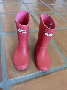 hunter boots toddler PINK sz 8