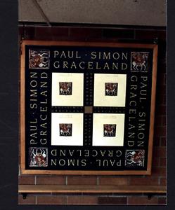 VINTAGE PAUL SIMON STORE DISPLAY PHOTO GRACELAND