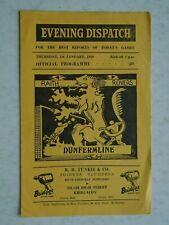 Raith Rovers v Dunfermline 1958/59 Division 1