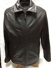DOCKERS Men's Brown Large Leather Jacket