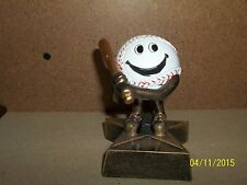 """adorable baseball award trophy, perfect for t-ball with engraving, about 4"""" tall"""