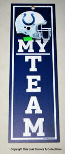 "NFL Baltimore Colts My Team - 4"" x 13"" Wood Type Sign New!"