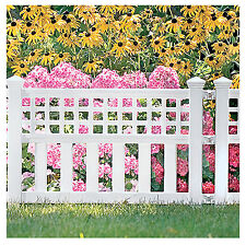 20-1/2''H x 24''W x 1-1/2''D,White Grand View Fence,Ground Height 14-1/2'',GVF24