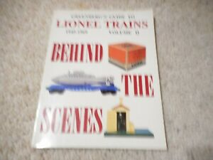 GREENBERG'S GUIDE TO LIONEL TRAINS 1945-1969  VOL II BEHIND THE SCENES