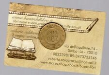 repubblica moneta 200 lire bronzo - ruota - 1991