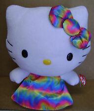 "Hello Kitty Rainbow Dress10""  Beanie Buddy Collection Stuffed Animal Plush Toy"