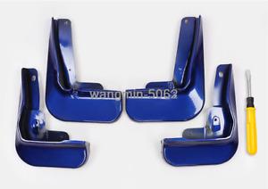 4PCS Blue Splash Guards Mud Flaps Fenders For 2018-2020 Toyota Camry SE / XSE