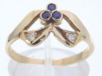 Ring Goldring 750 GOLD Brillanten Diamanten 18 Karat Saphir Safir bague or oro
