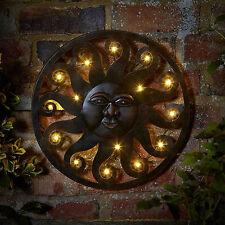 Sole LED da esterni in metallo in metallo Wall Art Timer Luce Multi Funzione