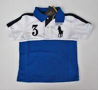 NWT Ralph Lauren Boys SS Big Pony Color-Blocked Tech Mesh Polo Shirt Sz 6 7 NEW