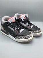 Nike Air JORDAN 3 Retro III Black Fire Cement Grey OG Sz. 7Y Youth 854261-001