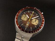 SUPER VINTAGE SEIKO 6138-0040 Bullhead cronografo, automatico eccellente