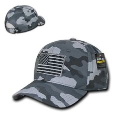 Gray Camo Usa Us American Flag Patch Military Combat Tactical Operator Cap Hat