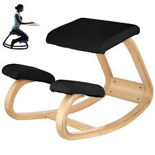 Adjustable bentwood Ergonomic Kneeling Chair Strengthen Muscles Wood Frame Home