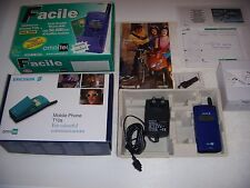 ERICSSON T10s JUICY BLUE 1999 ORIGINALE PARI AL NUOVO UNICO + ACCESSORI SCATOLA