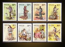 1989 1990 MACAO TRADITIONAL CHINESE  PROFESSIONS ST. 584-7,612-5 MI.612-15,640-3