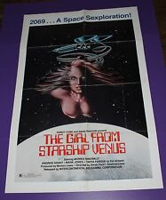 THE GIRL FROM STARSHIP VENUS 1SH ORIG MOVIE POSTER SPACE SEXPLORATION