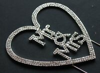 MR & MRS  CAKE PICK TOPPER DECORATION  DIAMANTE SPARKLY WEDDING CAKE TOPPER