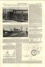 1894 Great Northern Railway puente sobre el Don 2 T carro de grúa