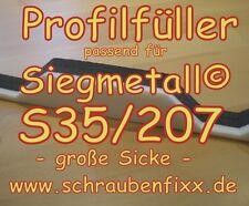 Profilfüller Sickenfüller Trapezbleche für Siegmetall® S35/207 große Sicke