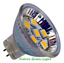 MOTORHOME CAMPERVAN MR11 6 SMD LED 12V (10-30V DC) 1.2W 90LM WARM WHITE BULB~15W