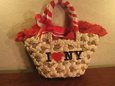 RARE FIXDESIGN**I HEART NY** NICE WOVEN HANDBAG* ITALIAN DESIGN* NEW w/TAGS