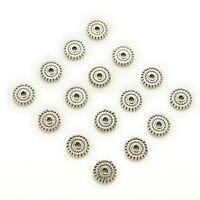 100pcs Tibet Silver Loose Spacer Beads Charms Jewelry Making Findings DIY YJ