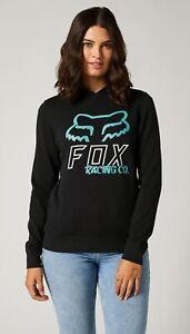 Sweat-Shirt pour Femme à Capuche Fox Hightail Po Toison Black Bleu