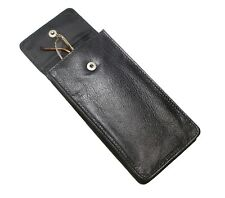 Soft Black Leather Spectacle Glasses Case Holder