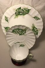 """** SHELLEY LILY OF THE VALLEY DAINTY TRIO 13822 8"""" PLATE  **"""