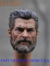 1/6 Wolverine Head w/ neck Battle Version For Logan X-men ❶USA❶ IN STOCK