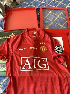 Manchester United Home Shirt 2008 Commemorative Box Set Size S