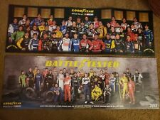 """Nice! Nascar Goodyear Drivers 2 Posters 2012 & 2013 11 1/4 x 34"""""""
