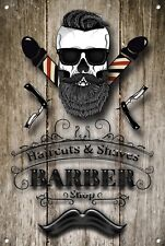 Barber Shop Letrero metal Decor Decoración De Pared Placas 1062