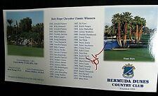 KEVIN SORBO Autograph 2004 Bob Hope Classic Golf Tourney scorecard 2004